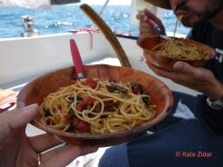 Spaghetti alla puttanesca help you stay strong